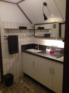 Badkamer van bed and breakfast De Hazelhorst Den Ham, Overijssel