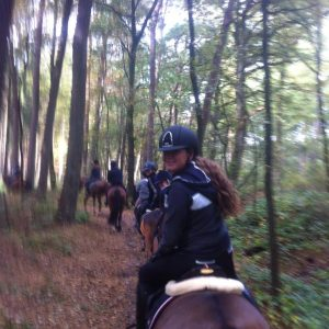 Outside horse riding